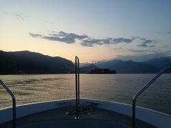 Tramonto nel Golfo Borromeo ,serata splendidida a bordo delle ns motonavi