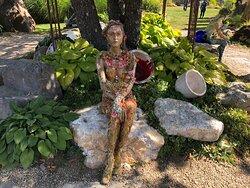 Fantastic magical healing gardens and art walk