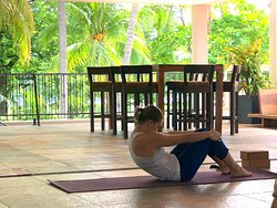 Yoga with a ocean view,