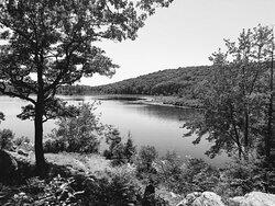 Island Pond in B&W