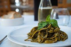 Fettuccine al pesto di basilico ! #homemade #anticatrattoriabarone