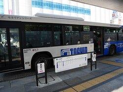 広島駅前の広電バス
