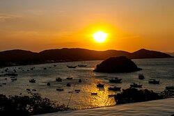 O pôr do sol mais famoso da região
