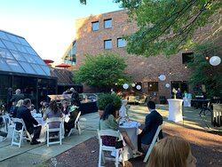 Gratella Terrace dressed up for wedding reception.