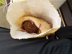 Classic Falafel, in pocket, in bag
