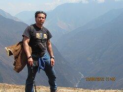 Vista desde el Ushnu en Choquequirao