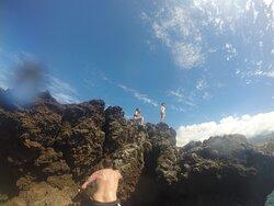 Climbing up Black Rock