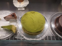 Matcha Mille Crepes Cake and Americano