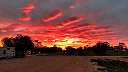 Magnificent sunset at Lake Benanee