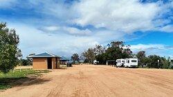 Main campgrounds at Lake Benanee