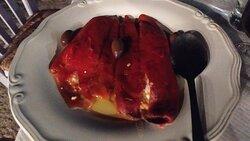 Estupenda comida con vistas a la roca de Monemvasia