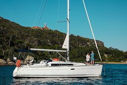 We got engaged on one of Taylor Made Escapes beautiful Beneteau Oceanis 34's.