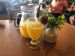 Pitcher of mimosas for $20