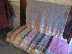 Fabulous throws made on site.