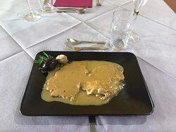 Scaloppe di pollo con crema di marroni