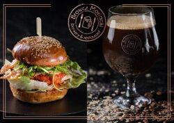 Burger/ Own brewed beer