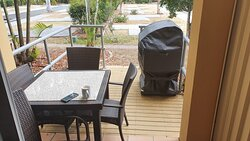 Well appointed veranda for drinks or a BBQ