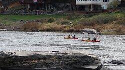 Kayaking  at the Skinners Falls