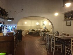Sala interna vicino alla cucina.