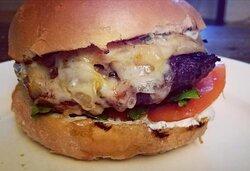 Cardo Burger with Comte Cheese.