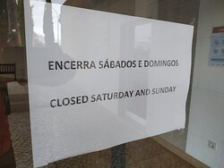 Closed in the weekends