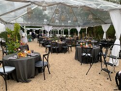 mini wedding under the stars!  lovely events venue