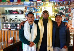 1..Bahrain PrinceSheikh Nasser Bin Hamad Al Khalifa @ sherpa barista cafe...the Royal Guard to climb Mt lobuche peak, during  the time of  Covid-19 outbreak,Nepal.. 2..tashi lhakpa sherpa (Youngest person to climb Mt. Everest without use of supplementary oxygen )