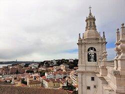 Vista de Lisboa a partir do terraço