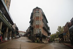 the classic building downtown Eureka Springs