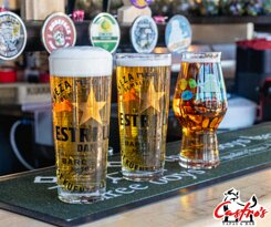 International and local beers and ciders