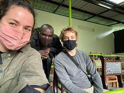 Briefing before Gorilla trekking!