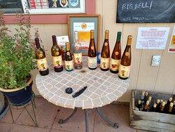 Wine display at Spanish Valley Vineyards & Winery in Moab, UT