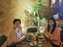 Happy diners