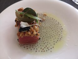 Amuse bouche brought to the table