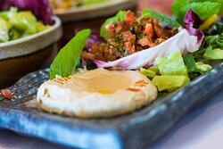 Hummus Classic and Tomato Kibbeh Salad