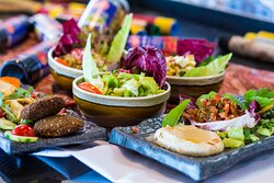 Halloumi and Chickpeas Salad, Fattoush Salad