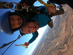 Jumping out of perfecting fine airplane over beautiful Canyonlands NP