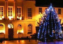 Ripon Market Square At Christmas
