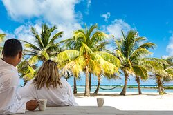 View from the veranda of your private cabana.