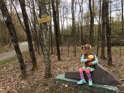 Family friendly hiking and biking at Slate Valley Trails. .