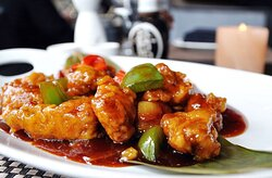General Tso's chicken 左宗棠雞 (pronounced [tswò]) is a sweet deep-fried chicken dish that is served in North American Chinese restaurants. The dish is named after Zuo Zongtang (also romanized Tso Tsung-t'ang), a Qing dynasty statesman and military leader, from in Hunan province. Try Koi's version, see how you like it. #koievanston #generaltaoschicken #chinesetakeout #happyhourtime #evanstoneats