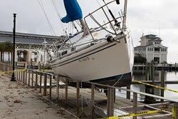 Boat on pier