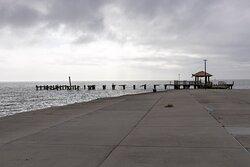 Damaged pier