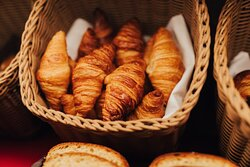 Delicious  croissants - breakfast