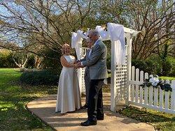 Our wedding ceremony.