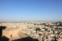 Views of Granada from Torre de La Vela.