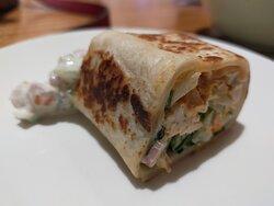 Indian Chicken Wrap