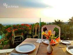 Espectacular vista desde el restaurante.