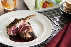On the Bone: 14 Ounce Herb-Crusted Rack of Colorado Lamb