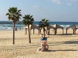 Clever Art Along Tayelet on Tel Aviv Beach